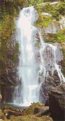 Three level waterfall close to Padang