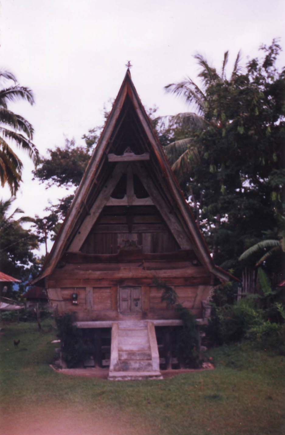 Tradional Batak House at Lake Toba Sumatra