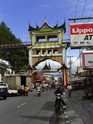 Main road through Bukittinggi