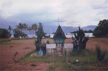 Traditional Batak Gravesite Lake Toba