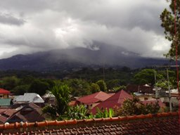 View to Gunung Singgalang from Hills hotel Bukittingi