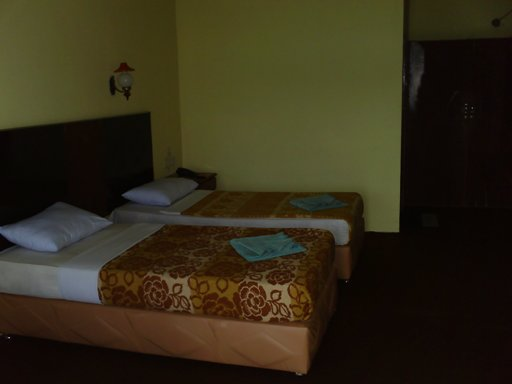 Inside the rooms at Hotel Maninjau Indah