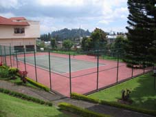 Tennis Courts at Hotel Sinabung Berastagi