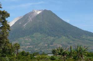 Volcano climbing in Sumatra Indonesia