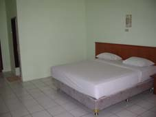 Inside rooms at Rindu Alam Hotel