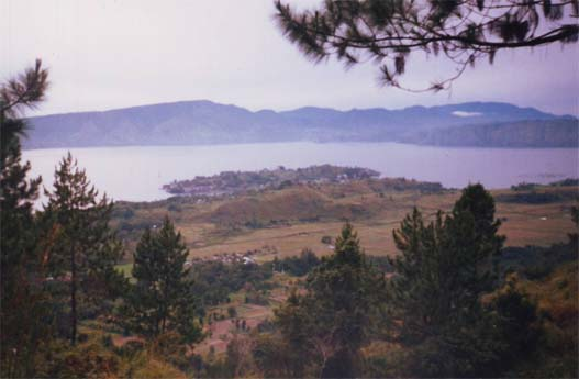 View over Tuk-Tuk Lake Toba