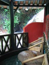 Balcony of Waterall room Jungle Inn